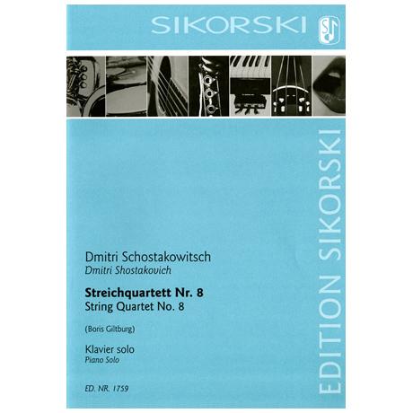 Schostakowitsch, D.: Streichquartett Nr. 8
