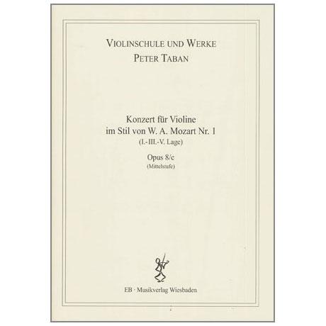 Taban, P.: Violinkonzert im Stil von W. A. Mozart Nr. 1 Op. 8/c