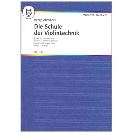 Schradieck, Henry: Die Schule Der Violintechnik, Band 3