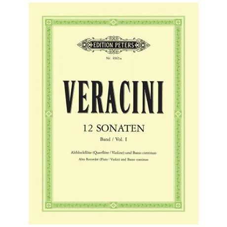 Veracini, F. M.: 12 Violinsonaten Band 1