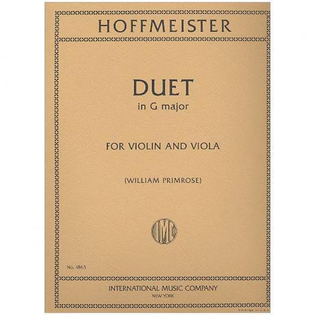 Hoffmeister, Fr. A.: Duett G-Dur