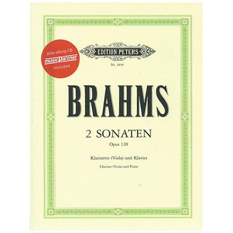 Brahms, J.: Violasonaten Op. 120/1-2 f-Moll und Es-Dur (+CD)