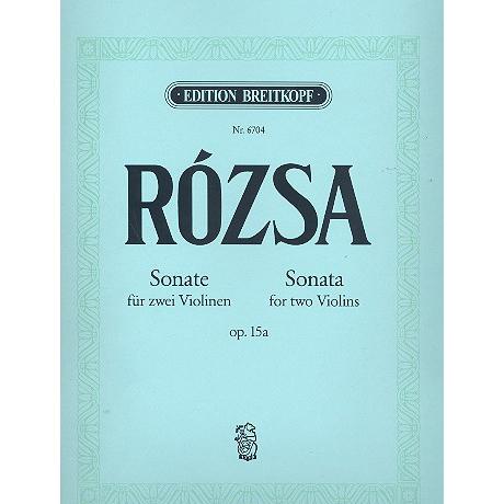 Rosza, M.: Sonate Op.15a Neufassung 1973