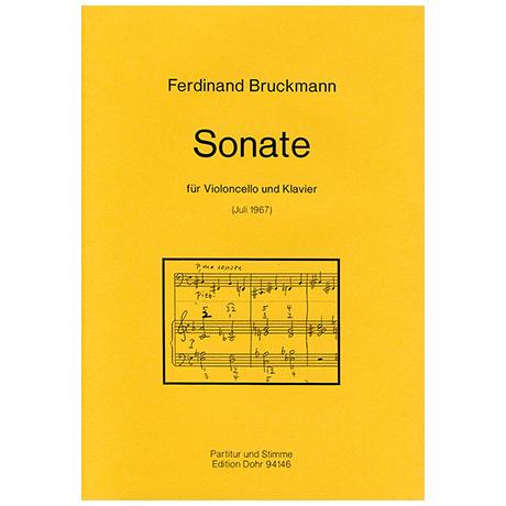 Bruckmann, F.: Violoncellosonate
