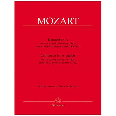 Mozart, W. A.: Violakonzert A-Dur KV 622