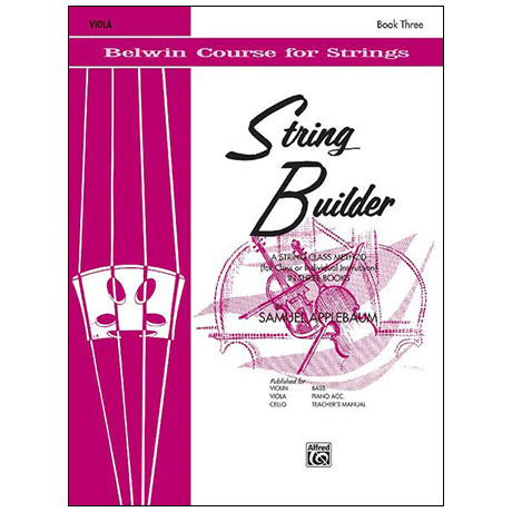 Applebaum, S.: String Builder Book Three – Viola