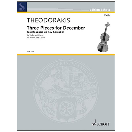 Theodorakis, M.: Three Pieces For December