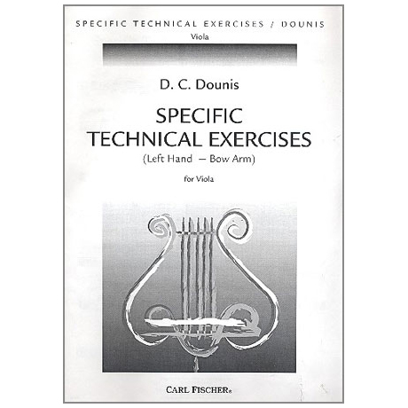 Dounis, D. C.: Specific Technical Exercises for Viola Op. 25