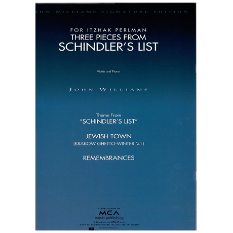 Williams, J.: Three Pieces from Schindler's List