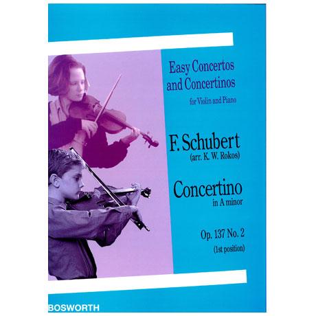 Schubert, F.: Concertino Op. 137,2 a-Moll