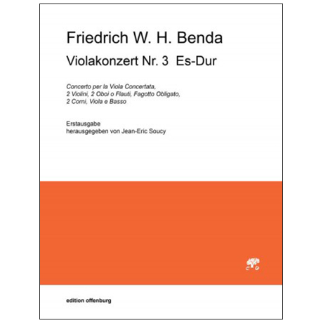 Benda, F. W. H.: Violakonzert Nr. 3 Es-Dur