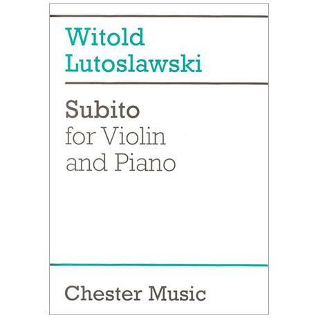Lutosławski, W.: Subito (1992)