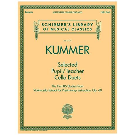 Kummer, F. A.: Ausgewählte Schüler/Lehrer Duette aus Op. 60