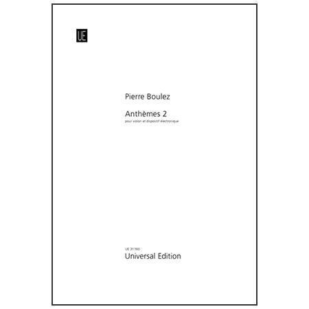 Boulez, P.: Anthèmes 2
