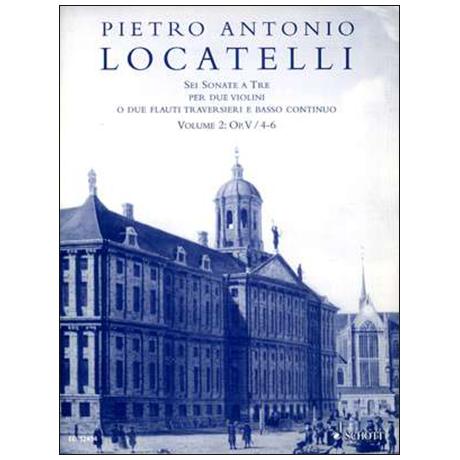Locatelli, P. A.: 6 Triosonaten Op. 5 Band 2 (Nr. 4-6)