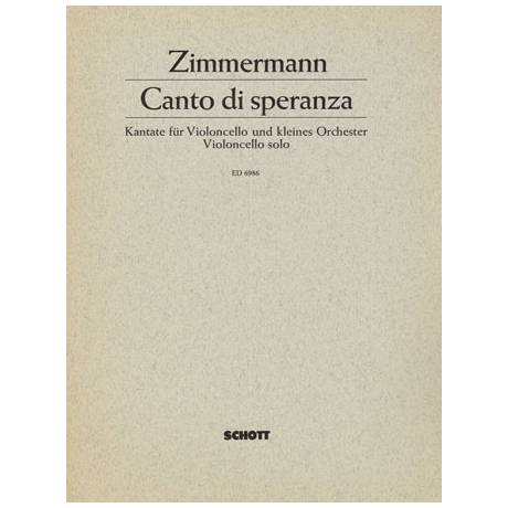 Zimmermann, B.A.: Canto di speranza