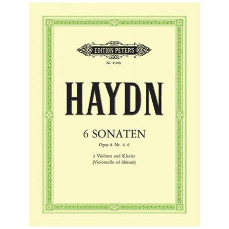Haydn, J.: Sonaten (Trios) Op. 8 Bd. 2 (Es-, G-, A-Dur) Hob. V: 17, 20, A1