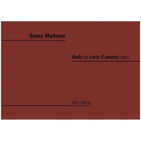 Maderna, B.: Viola (o viola d'amore) (1971)
