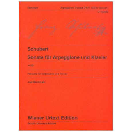 Schubert, F.: Violoncellosonate D 821 a-Moll »Arpeggione«