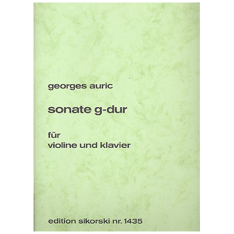 Auric, G.: Sonate G-Dur