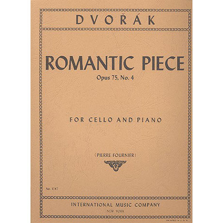 Dvořák, A.: Romantisches Stück Op. 75 Nr. 4