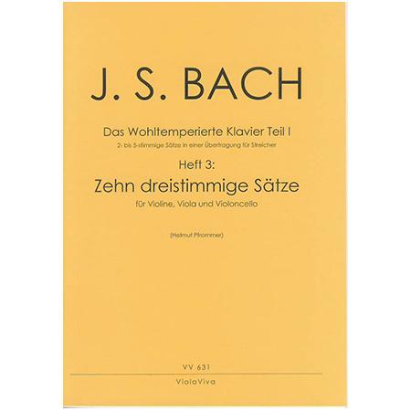 Bach, J. S.: 10 dreistimmige Sätze aus dem Wohltemperierten Klavier Teil I