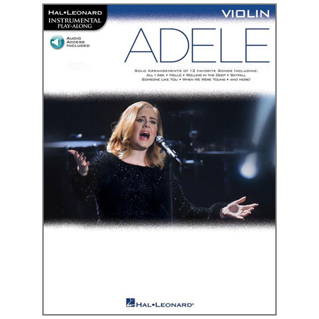 Adele: Solo Arrangements of 12 Favorite Songs for Violin (+Online Audio)