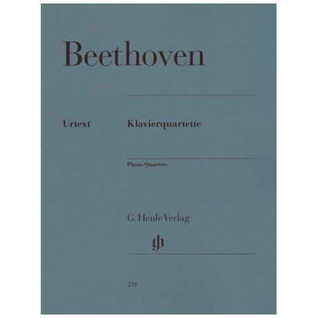 Beethoven, L.v.: Klavierquartette Es-Dur Op. 16, Es-, D-, C-Dur WoO 36/1-3 Urtext