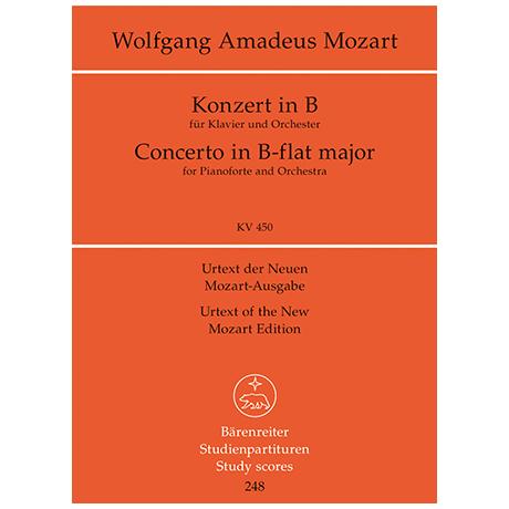 Mozart, W. A.: Klavierkonzert B-Dur KV 450 – Konzert für Klavier und Orchester