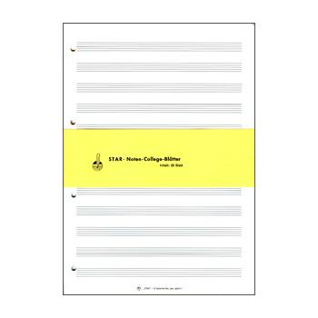 STAR Notenpapier Ringbucheinlagen DIN A4 hoch