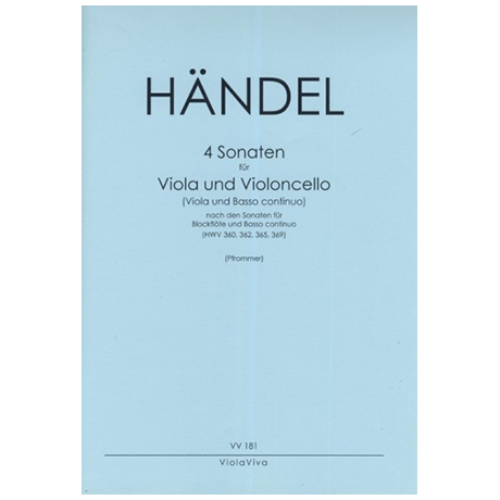 Händel, G. F.: 4 Sonaten