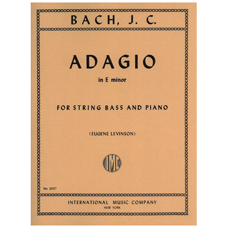 Bach, J.Chr.: Adagio E minor