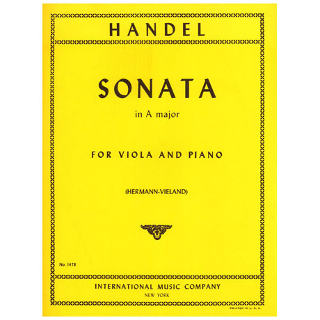 Händel, G. F.: Violasonate in A-Dur