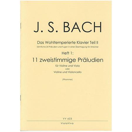 Bach, J. S.: 11 zweistimmige Präludien aus dem Wohltemperierten Klavier Teil II