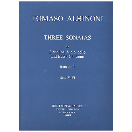 Albinoni, T.: Sonate a tre Op.1 Band 2 (Nr.4-6)
