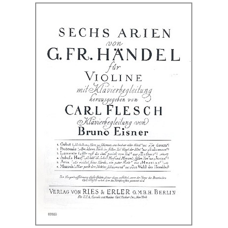Händel, G. F.: 6 Arien Band 4 — Jubals Harf