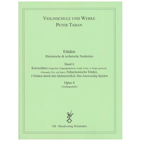 Taban, P.: Etüden Op. 4 – Rhythmische und technische Neuheiten Band 4
