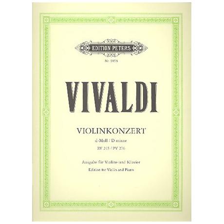 Vivaldi, A.: Konzert RV 245, PV 276 d-Moll Urtext