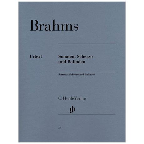 Brahms, J.: Sonaten, Scherzo und Balladen