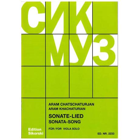 Chatschaturjan, A.: Sonate für Viola solo 1976