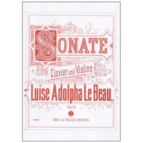 Le Beau, L. A.: Violinsonate Op. 10