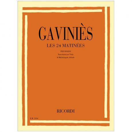 Gaviniès, P.: 24 Violaetüden