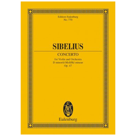 Sibelius, J.: Violinkonzert Op. 47 d-Moll – Partitur
