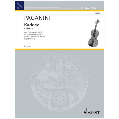 Paganini, N.: Violinkonzert Nr. 2 Op. 7 h-Moll – Kadenz (Turban)