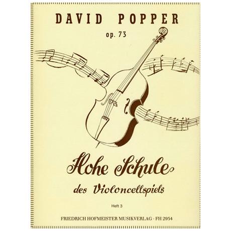 Popper, D.: Hohe Schule des Violoncellospiels Band 3 Op.73