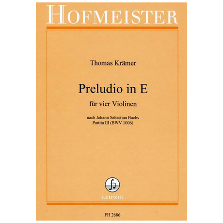 Krämer, Th.: Preludio in E - Nach J. S. Bachs Partita III BWV 1006