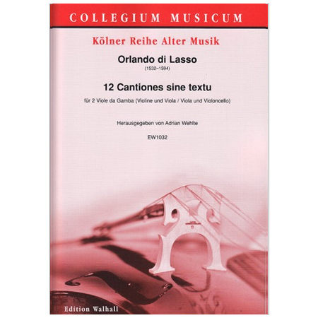 Lasso, O. d.: 12 Cantiones sine textu