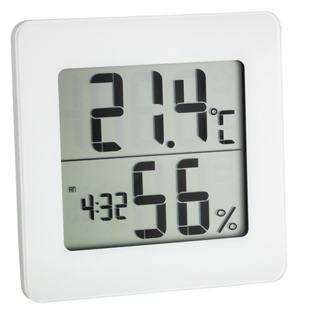 PACATO Digital white Thermo-Hygrometer