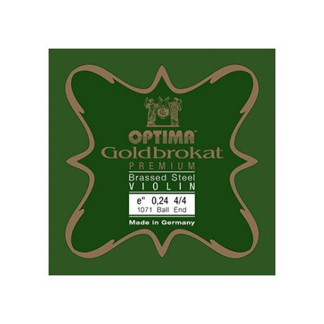 GOLDBROKAT PREMIUM BRASSED Violinsaite E von Optima 4/4 | 0,25 mm