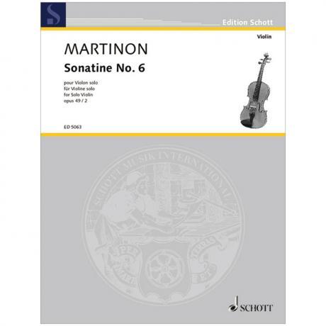 Martinon, J.: Sonatine Nr. 6 Op. 49/2 (1958)